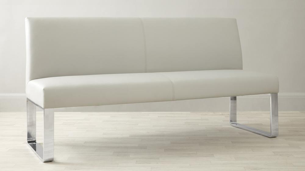 Chrome Legs Leather Family Bench