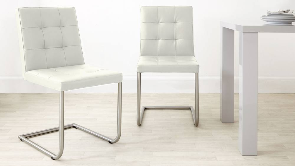 Contemporary White Dining Chairs UK Delivery