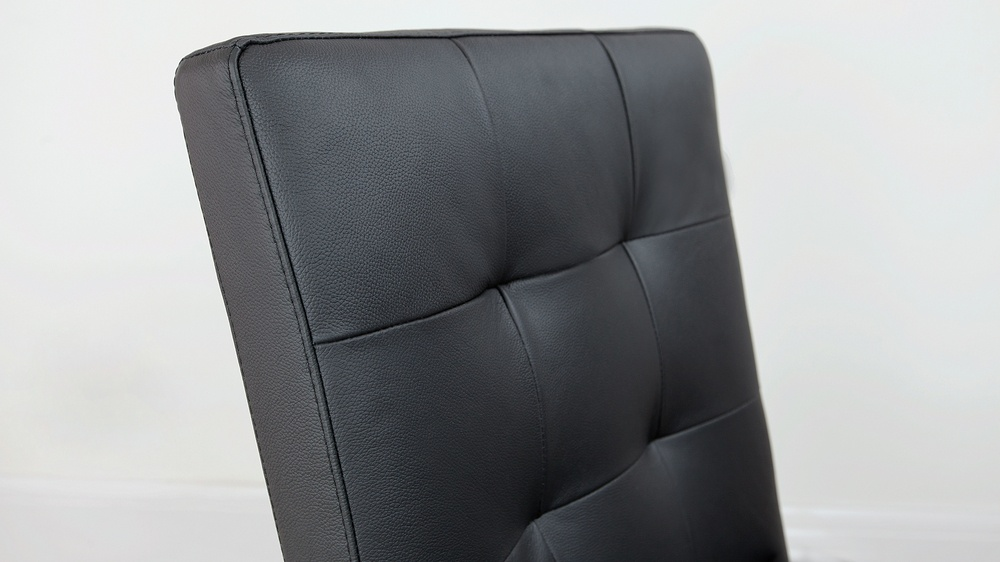 Quilted Real Leather Dining Chair