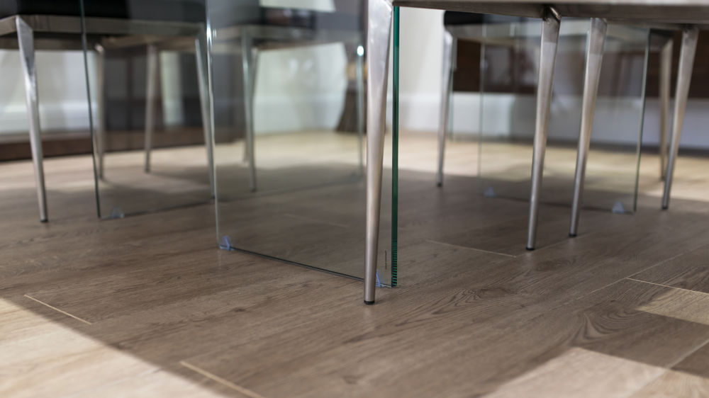Glass and Chrome Based Dining Table