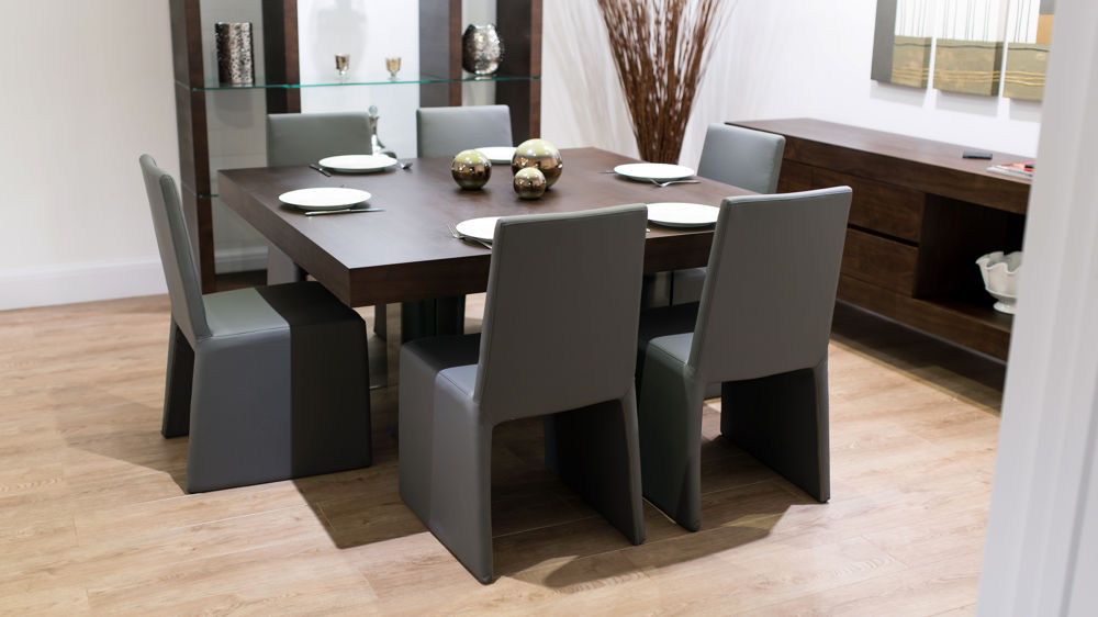 Delightful Modern Square Dining Tables For 8 Room Ideas