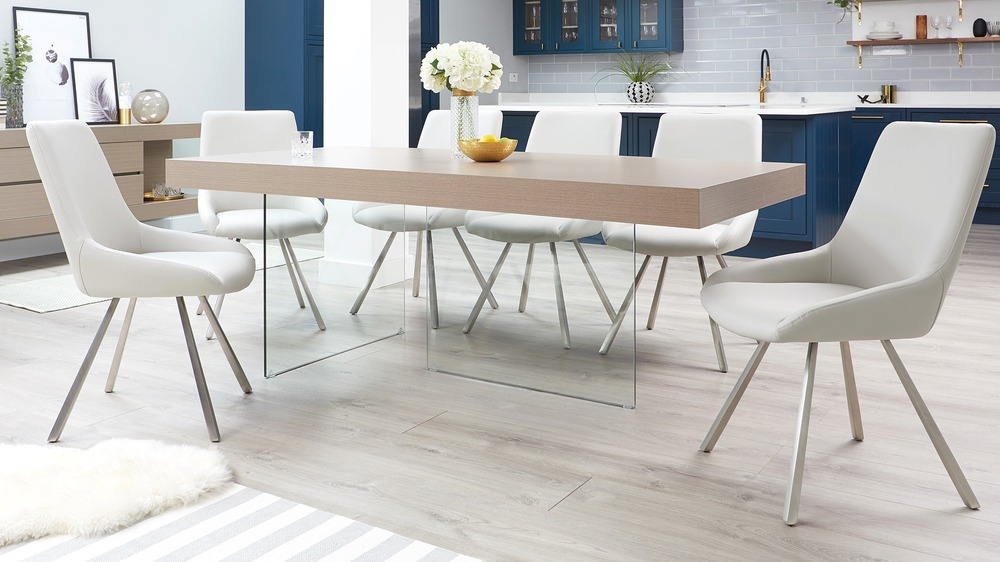 Aria grey oak and theo dining set