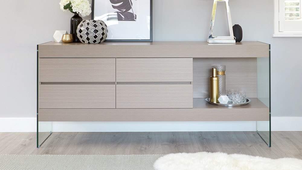 Large grey wood sideboard