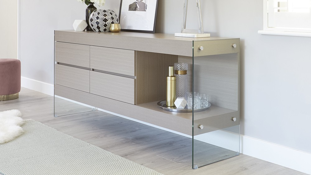 Ashy grey sideboard