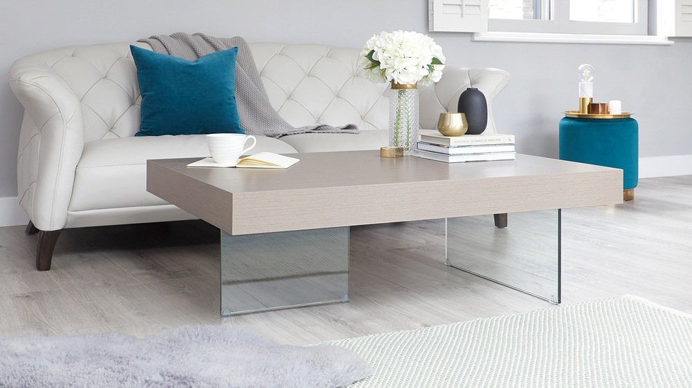 Grey oak coffee table