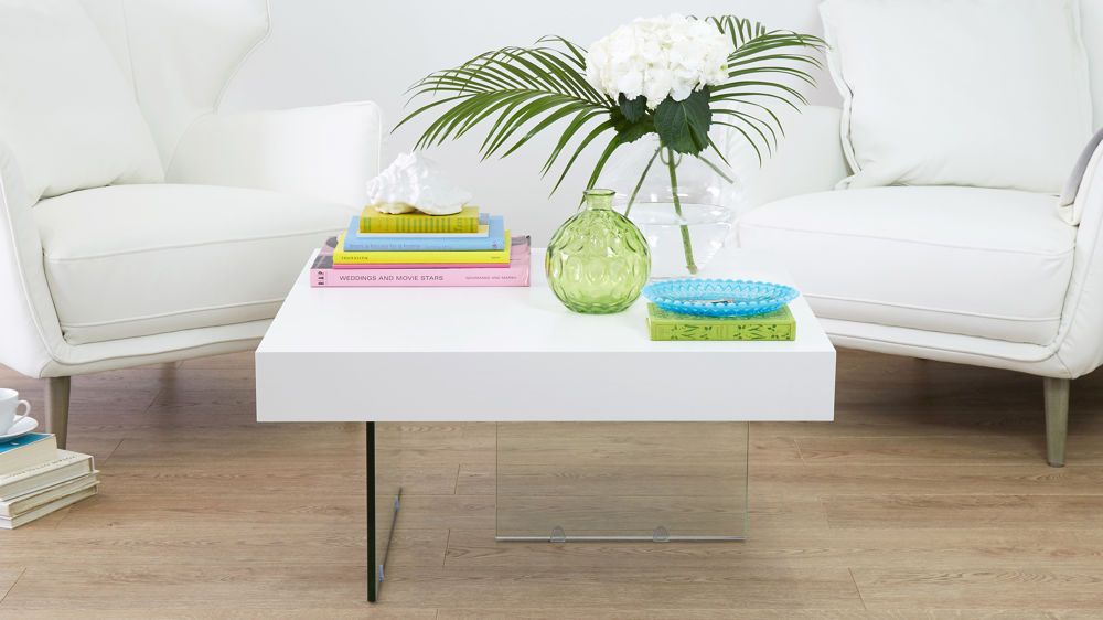 Stylish White Small Coffee Table
