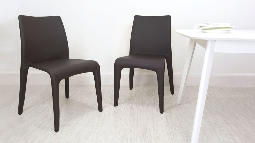 Brown Stackable Dining Chairs