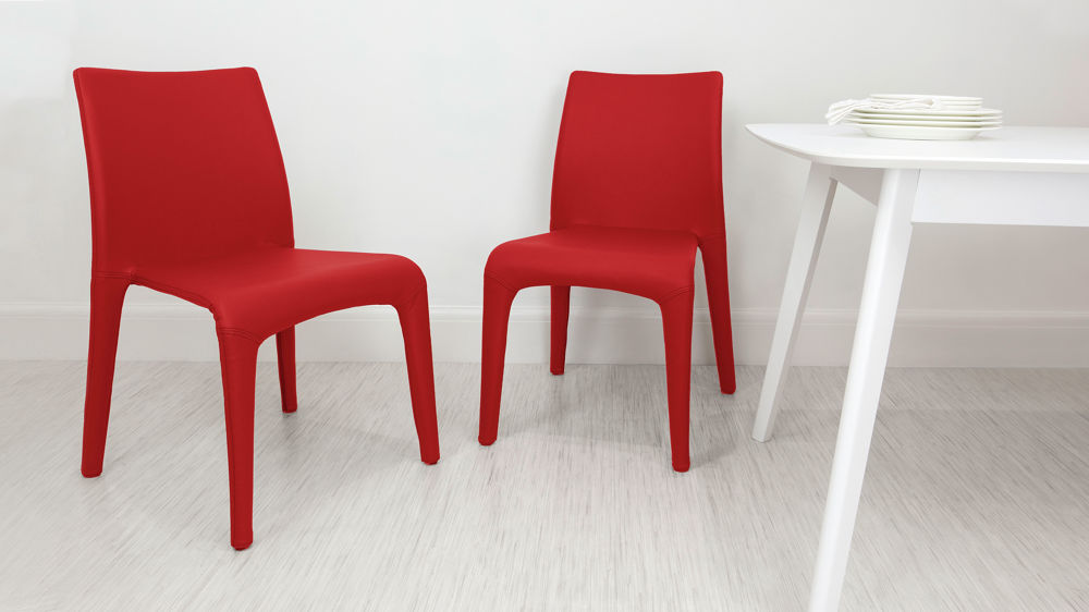 Red Stackable Dining Chairs