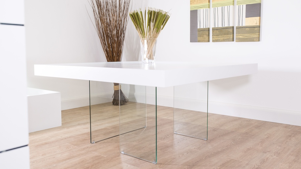 Strong Glass Legged Dining Table UK Delivery