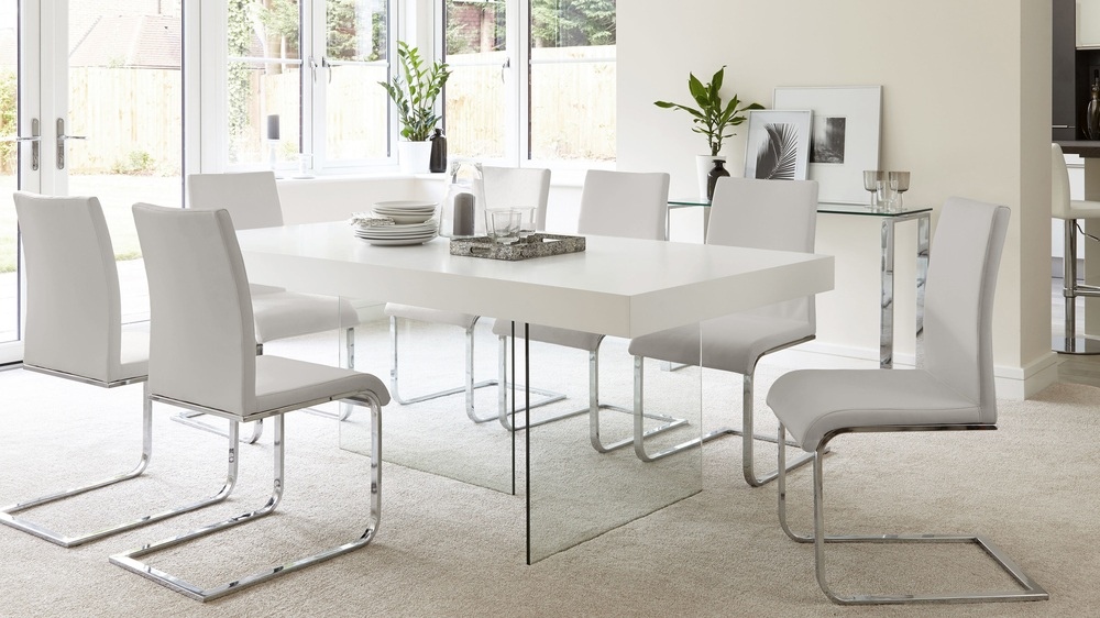 Cool grey sophisticated dining set