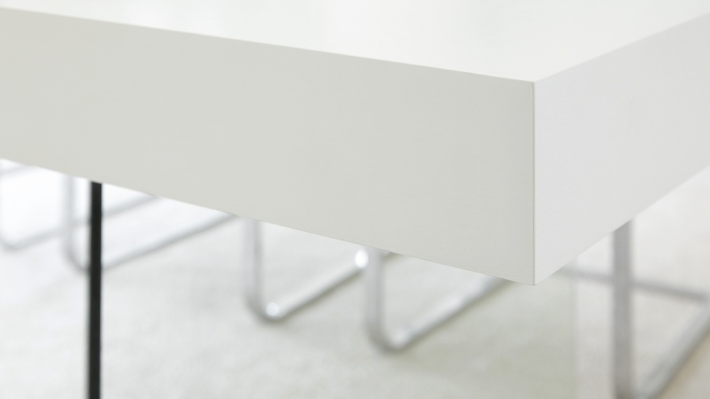 Large white wooden table