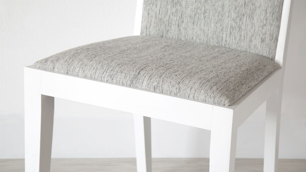 grey and white dining chairs grey cushioned white wooden dining chair with comfortable seat modern oak grey fabric backrest