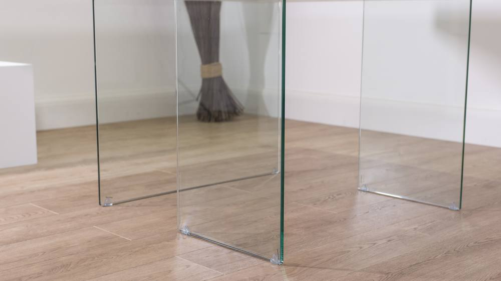 Dining Table with Glass Legs UK
