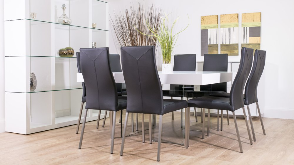 Monochrome 8 Seater Dining Set