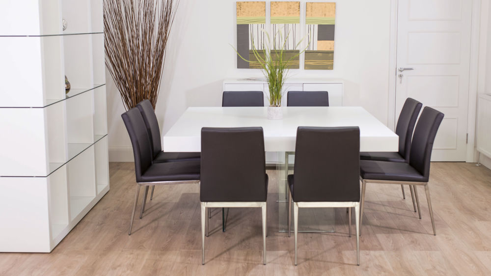 8 Seater Dining Table and Modern Dining Chairs