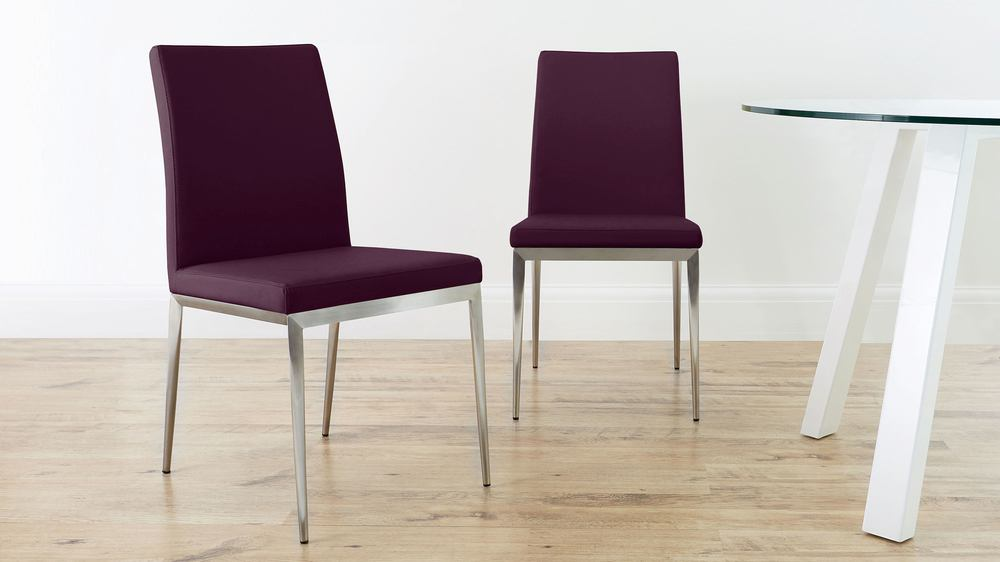 Contemporary Purple Dining Chairs UK