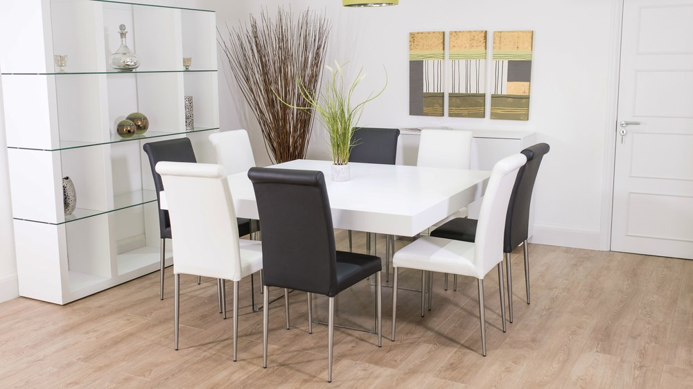Contemporary 8 Seater Dining Set