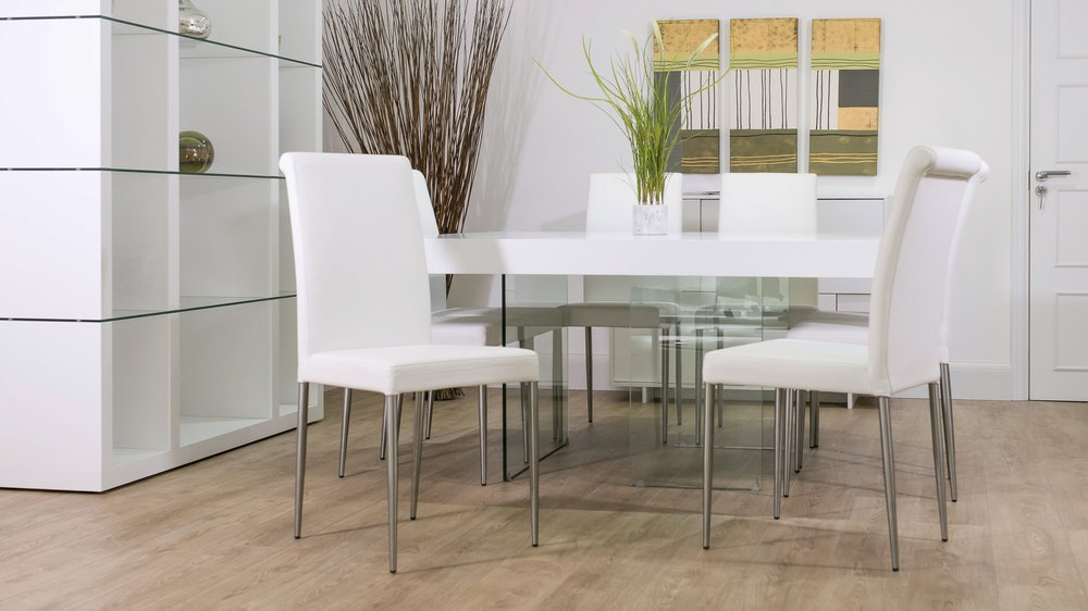White Floating Dining Set