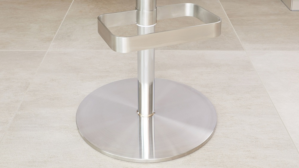Brushed chrome gas lift bar stools