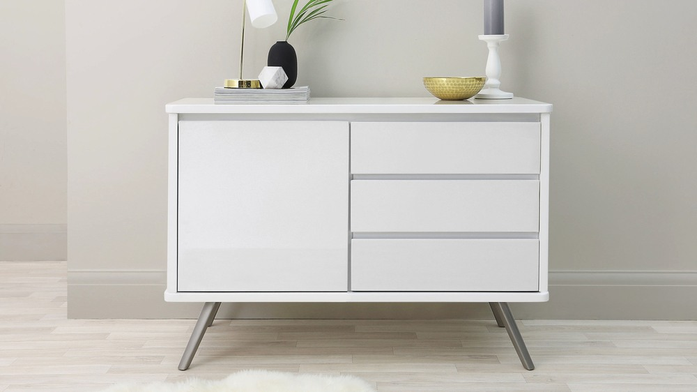 Assi Compact White Sideboard Uk