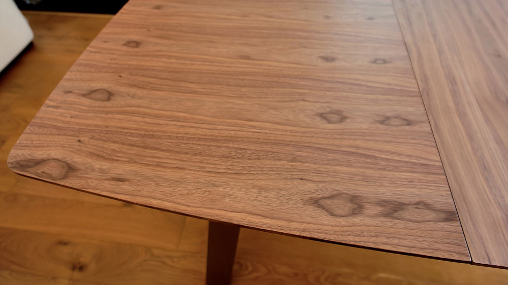 Extending Dining Table with a Walnut Wood Veneer