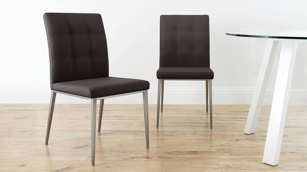 Padded Brown Dining Chairs