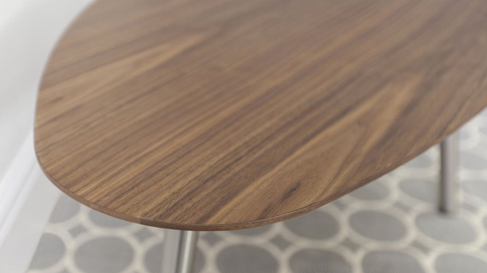 Contemporary Walnut Veneer Coffee Table