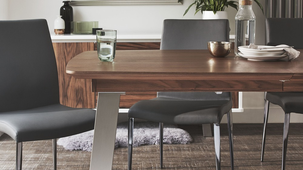 Modern extending dining table set online