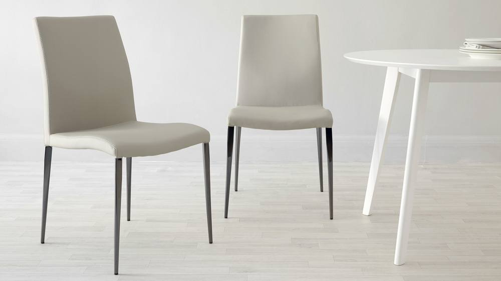 Latte beige dining chairs