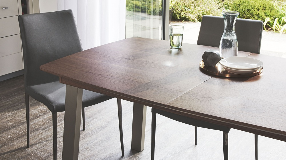 Wooden extending dining table
