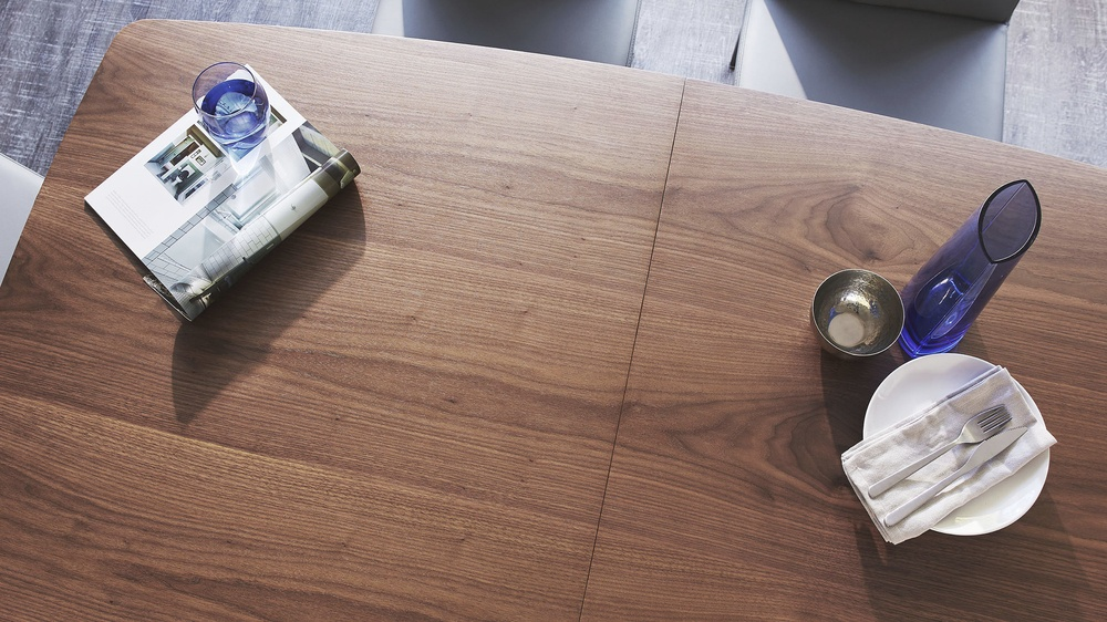 Buy wooden and brushed chrome table
