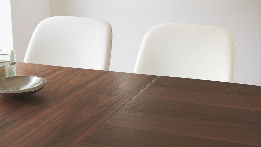 Simple Extending Dining Table with a Walnut Wood Veneer