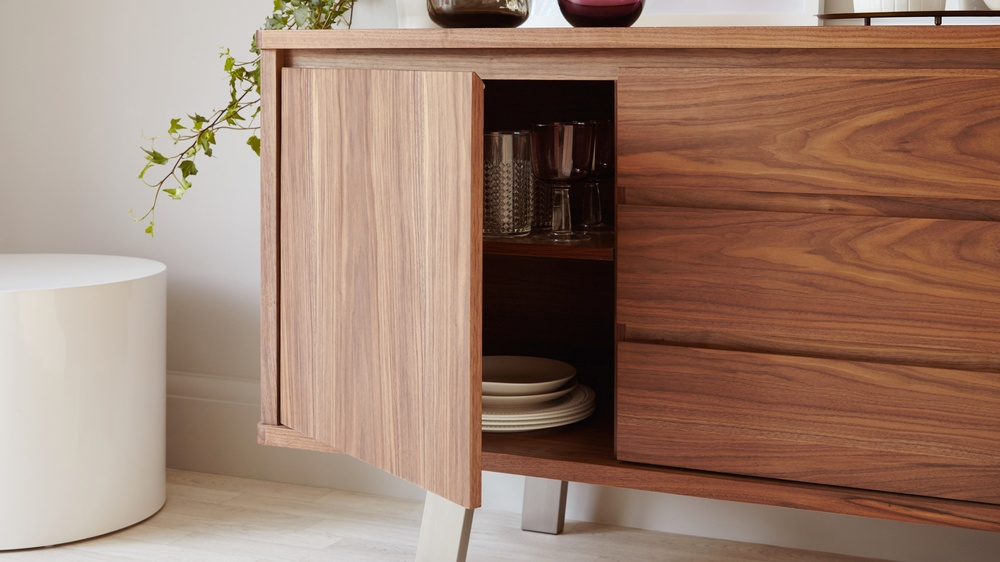 Wooden Sideboard with Large Storage Space