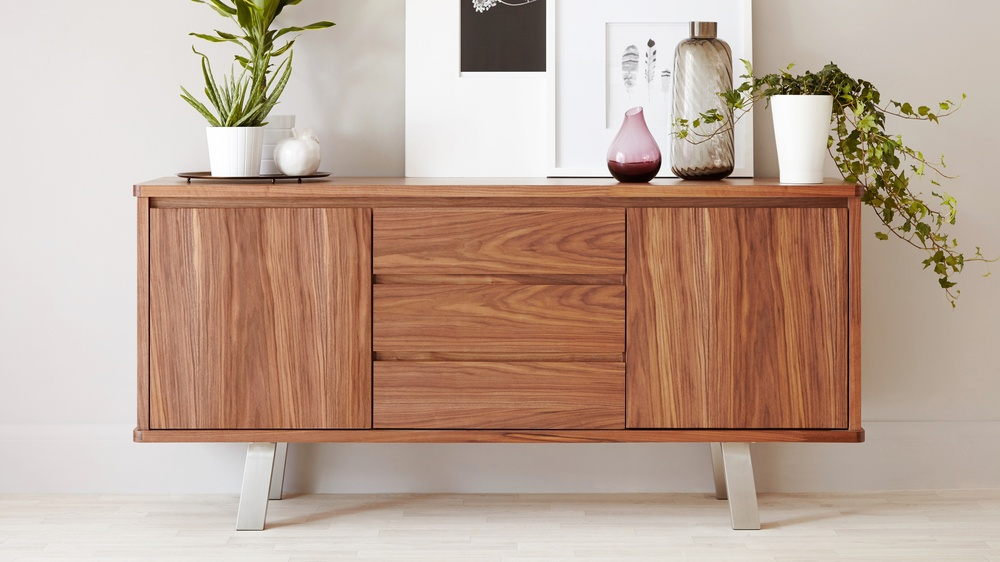 Modern Walnut Sideboard Walnut Veneer Uk Deliverery