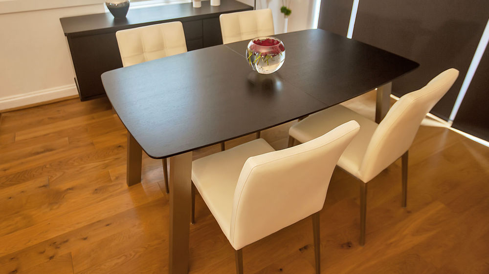 Dark Wood Extending Dining Table