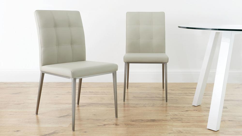 Cream High Backed Dining Chairs