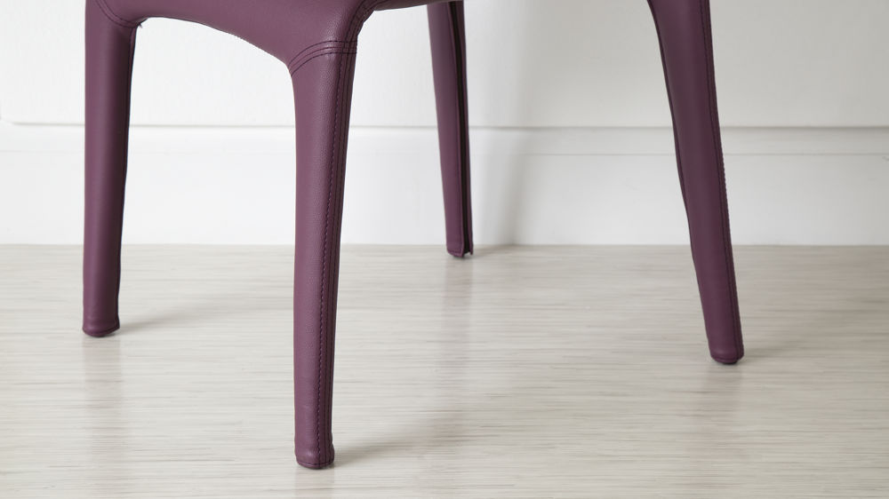 Streamlined Purple Faux Leather Dining Chair UK