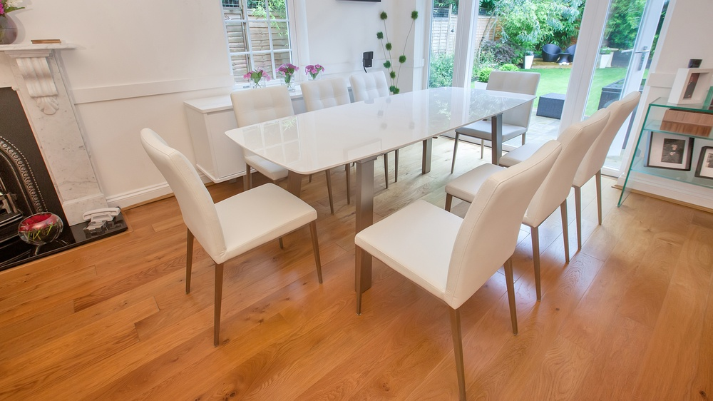 White Extending Dining Set UK Delivery