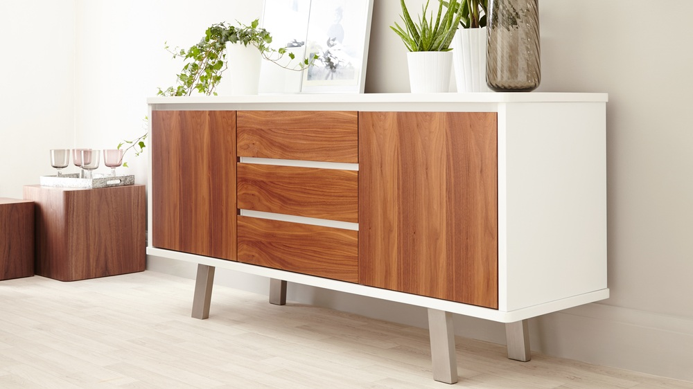 Contemporary White Gloss Sideboard
