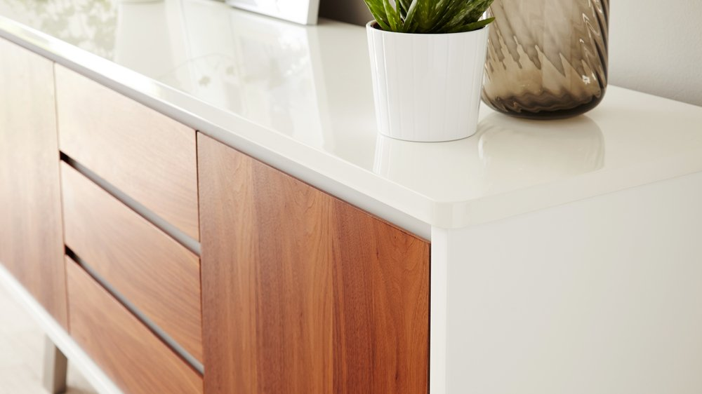 Walnut Veneer Sideboard with Drawers