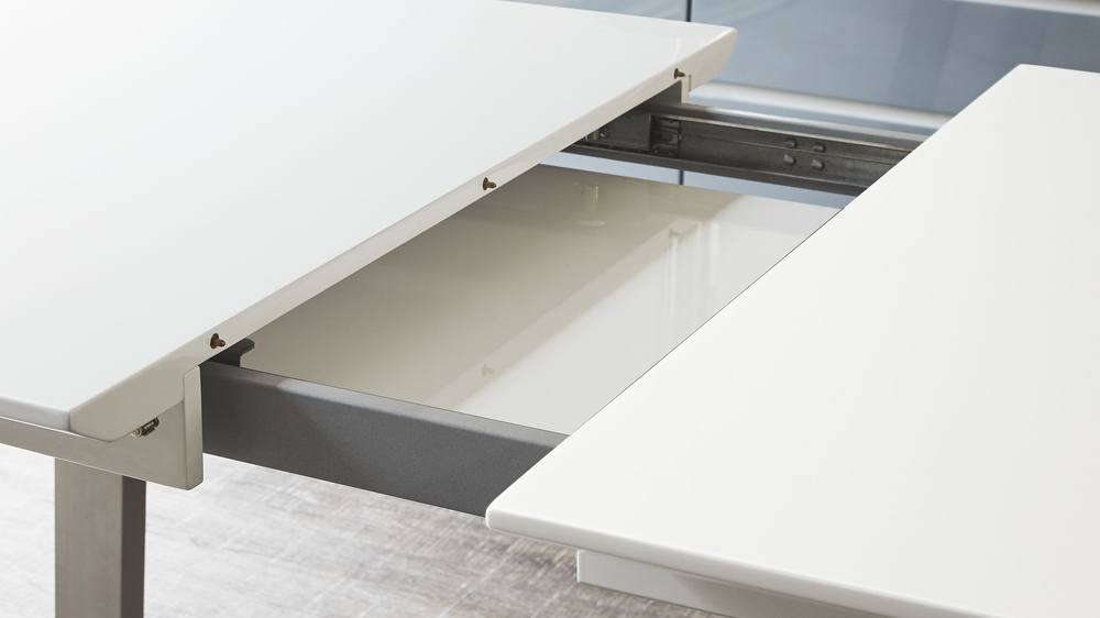 White Gloss Dining Table Clasps