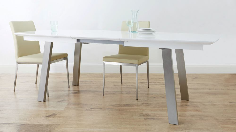 Buy white gloss extending dining table online