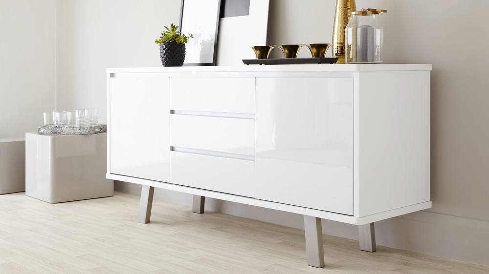 Modern White Gloss Sideboard Gloss White Sideboard : assi white gloss sideboard 1 from www.danetti.com size 1000 x 562 jpeg 43kB