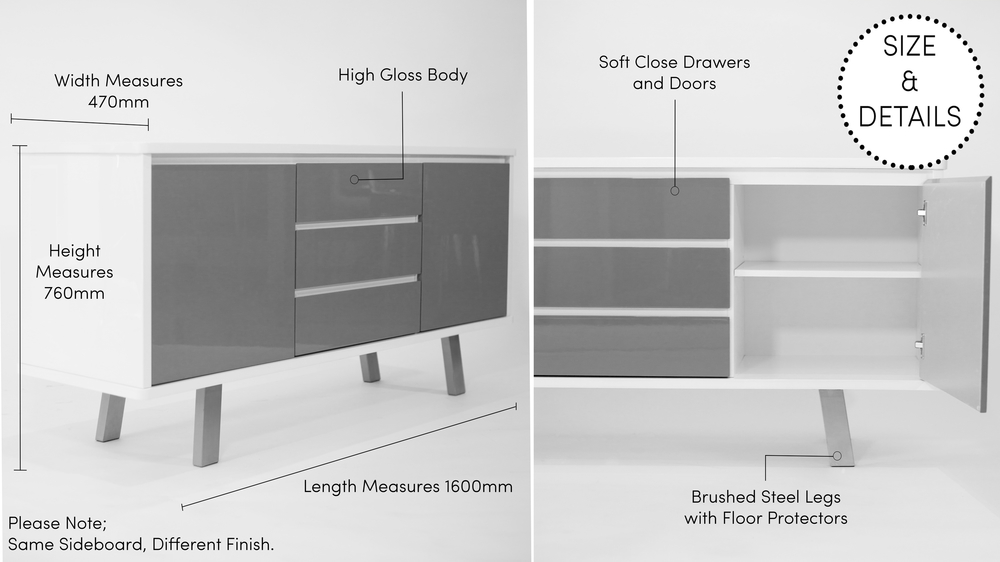 Large Gloss Sideboard