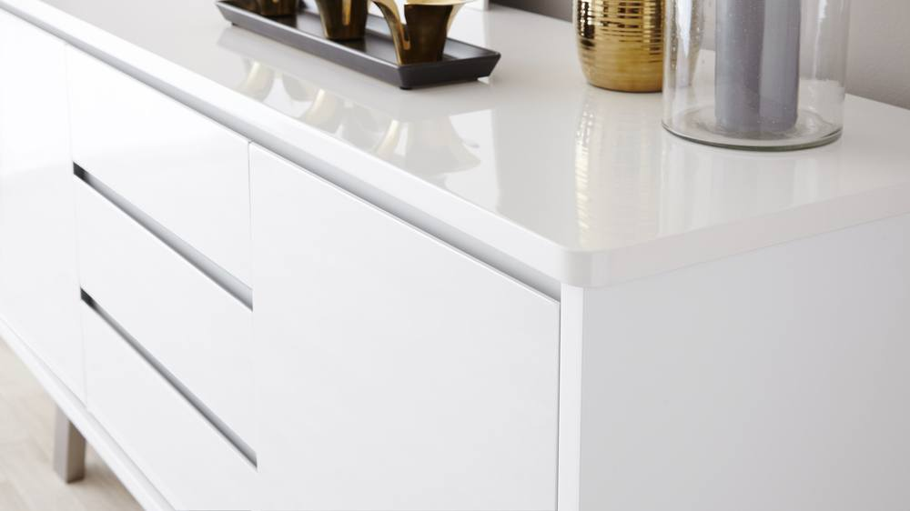 Modern White Gloss Sideboard with storage