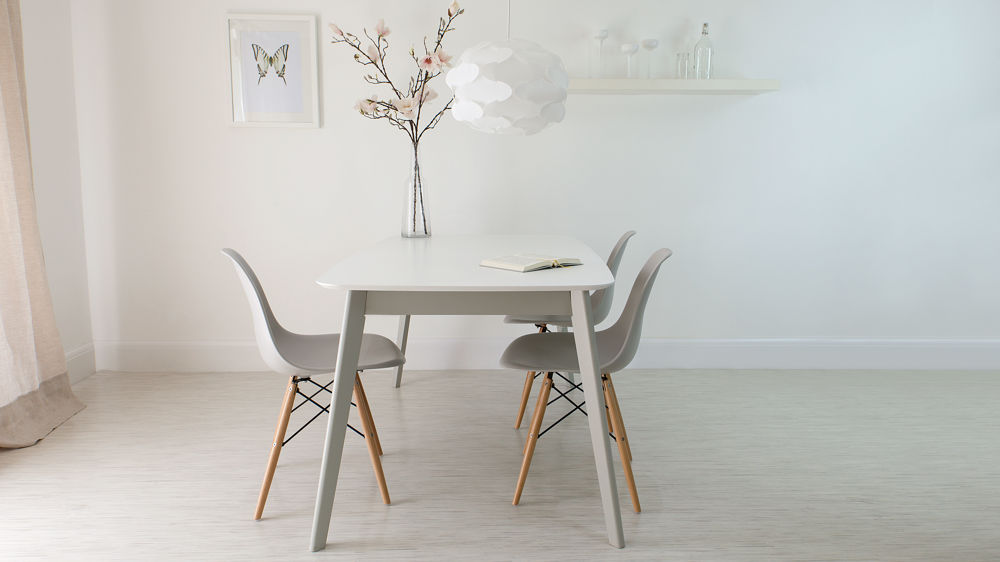 Grey Eames Extending Dining Set