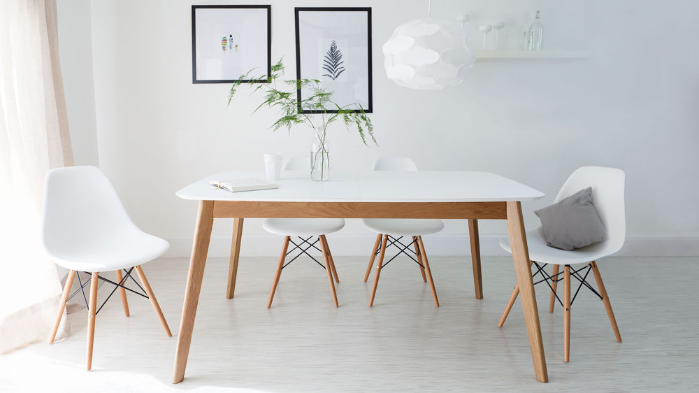 Mid-Century Modern Extending Dining Set