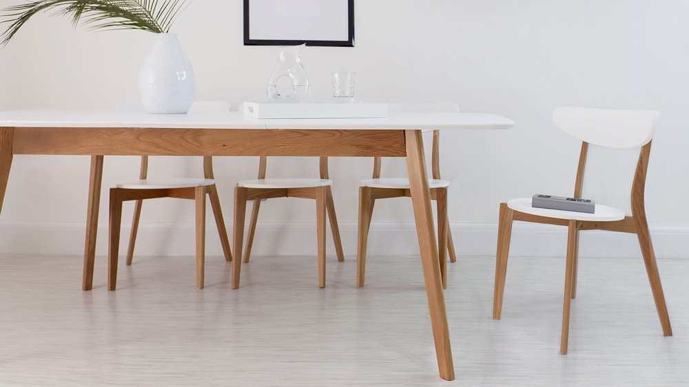 White Oak Table 8 Seater Extending Dining Table