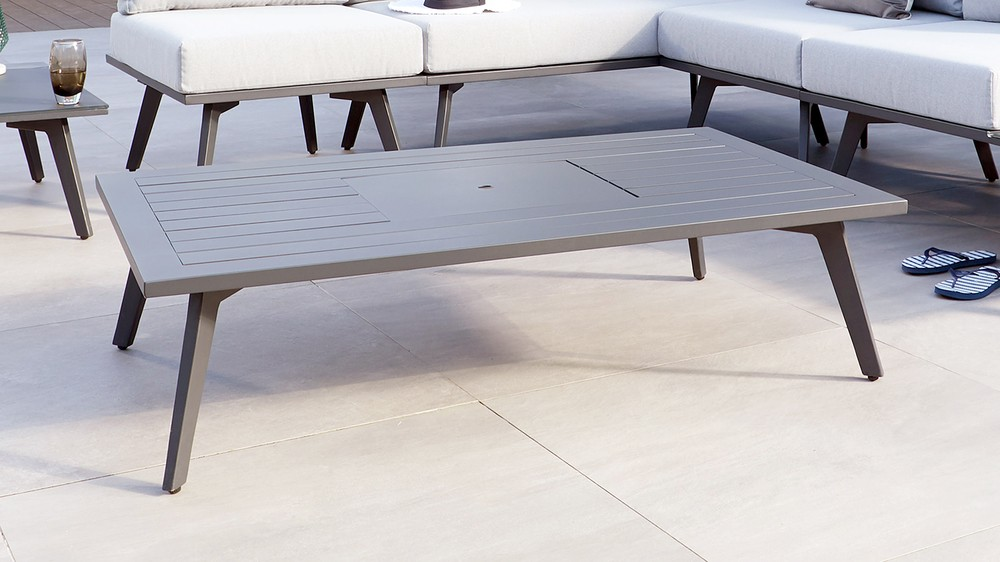 Dark grey outdoor furniture
