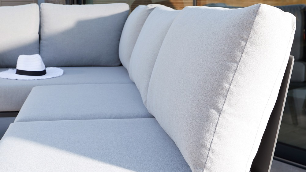 Light grey outdoor corner sofa